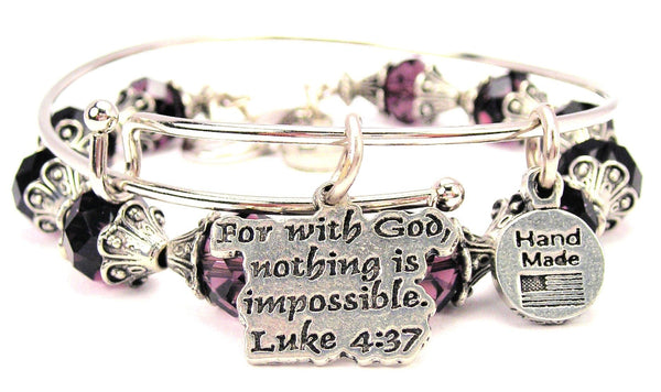 For With God Nothing Is Impossible Luke 4:37 2 Piece Collection
