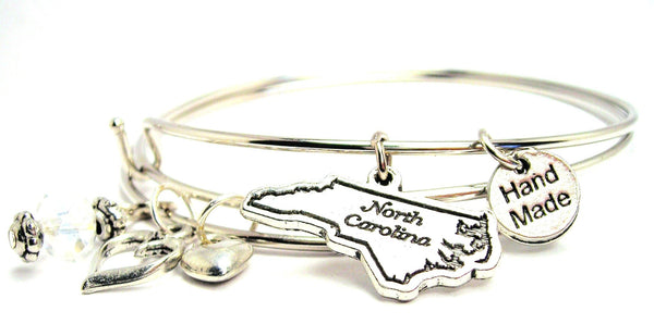 north Carolina bracelet, north Carolina bangles, north Carolina jewelry, north Carolina state bracelet
