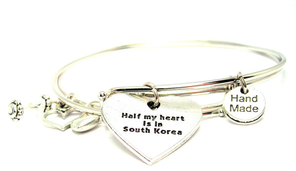 deployment bracelet, south Korea bracelet, military bracelet, military wife bracelet