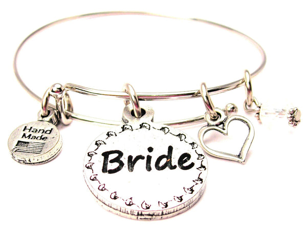 Bride Circle Expandable Bangle Bracelet