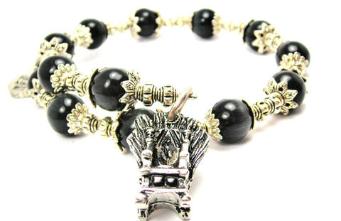 Throne Of Swords Cats Eyes Glass Beaded Wrap Bracelet