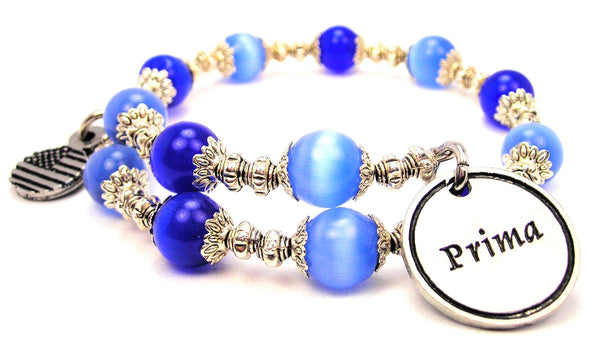 Prima Cats Eyes Glass Beaded Wrap Bracelet