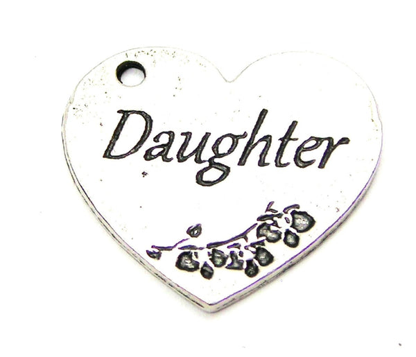 Daughter Heart Genuine American Pewter Charm