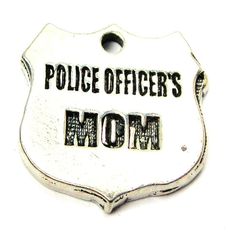 Police Officers Mom Genuine American Pewter Charm