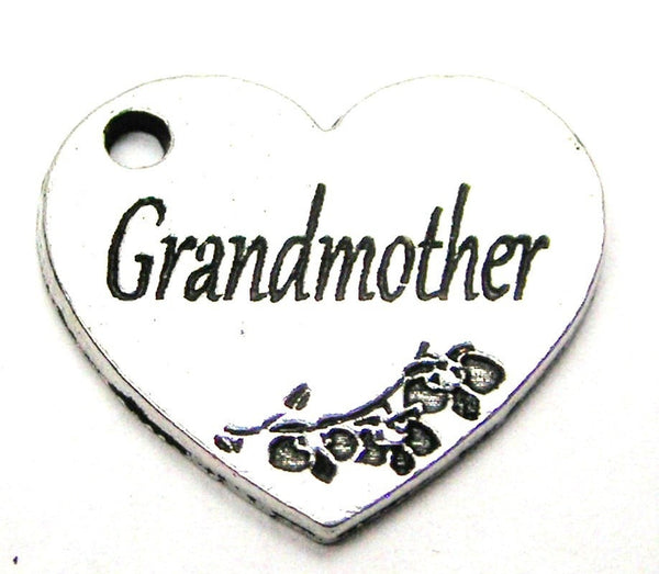 Grandmother Heart Genuine American Pewter Charm