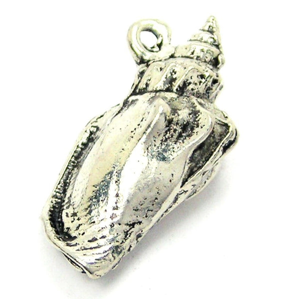3D Conch Shell Genuine American Pewter Charm