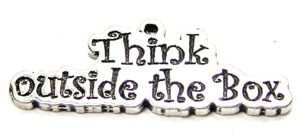 Think Outside The Box Genuine American Pewter Charm