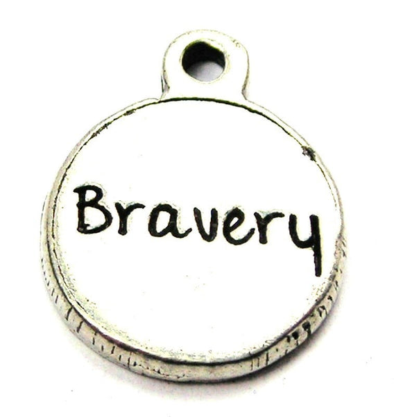 Bravery Circle Genuine American Pewter Charm