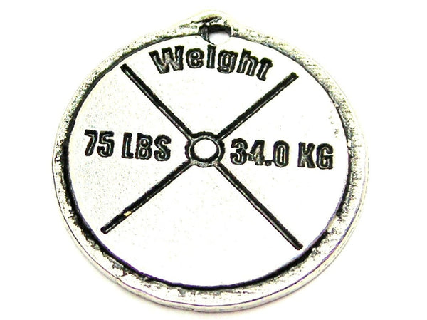 75 Lb Weight Genuine American Pewter Charm