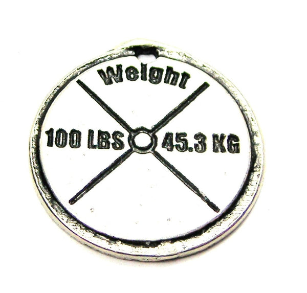 100 Lb Weight Genuine American Pewter Charm