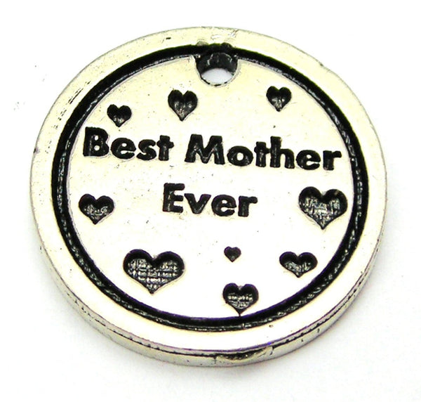 Best Mother Ever With Hearts Genuine American Pewter Charm