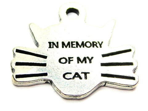 In Memory of My Cat Genuine American Pewter Charm