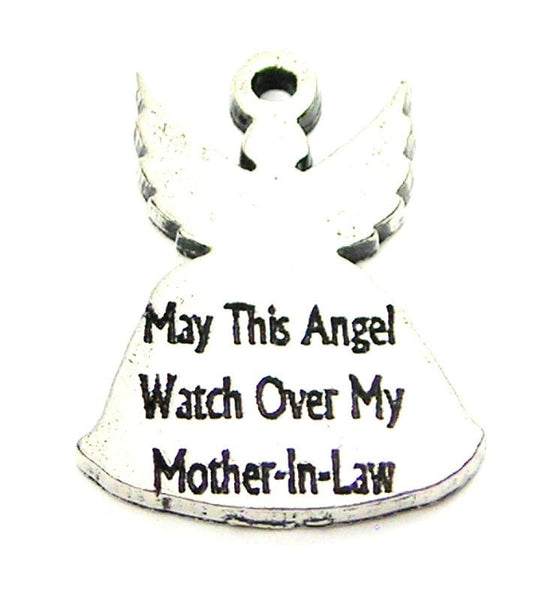 May This Angel Watch Over My Mother-In-Law Genuine American Pewter Charm