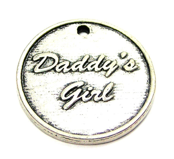Daddy's Girl Genuine American Pewter Charm