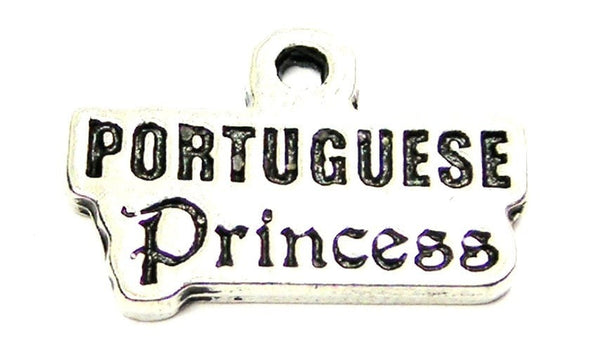 Portuguese Princess Genuine American Pewter Charm