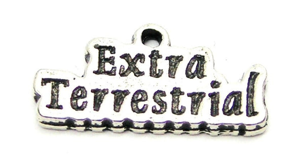 Extra Terrestrial Genuine American Pewter Charm