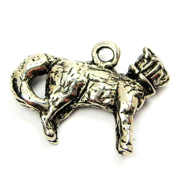 Cat With Collar Genuine American Pewter Charm
