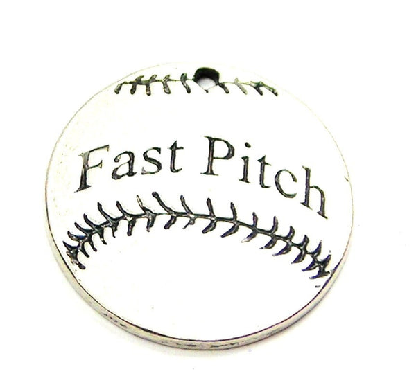 Fast Pitch Genuine American Pewter Charm