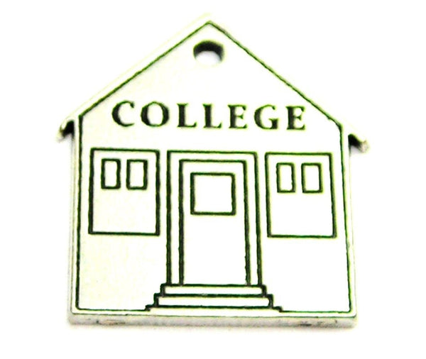 College Genuine American Pewter Charm
