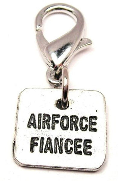 Air Force Fiancée Square Zipper Pull