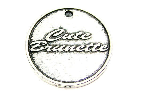 Cute Brunette Genuine American Pewter Charm