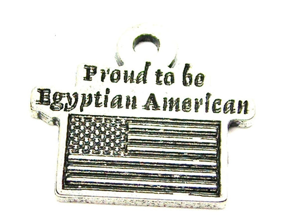 Proud To Be Egyptian American Genuine American Pewter Charm