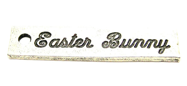 Easter Bunny Tab Genuine American Pewter Charm