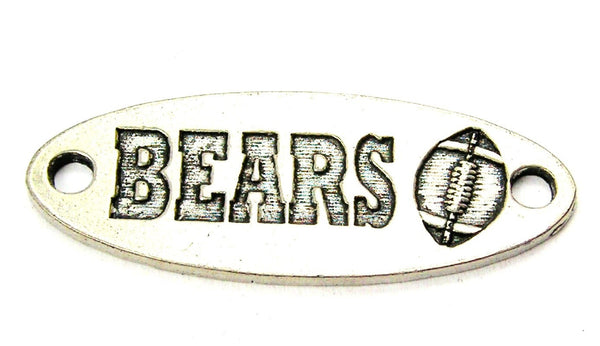 Bears - 2 Hole Connector Genuine American Pewter Charm