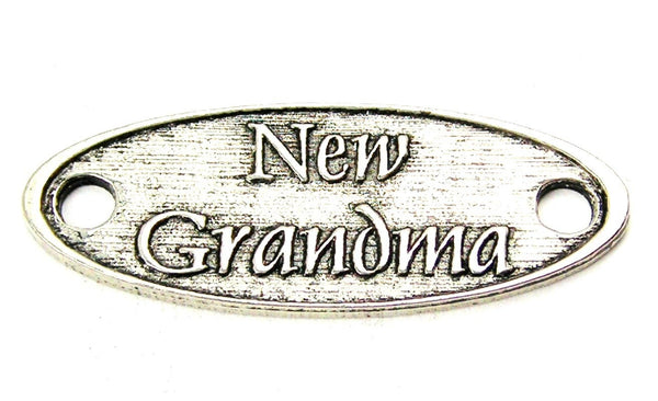 New Grandma - 2 Hole Connector Genuine American Pewter Charm