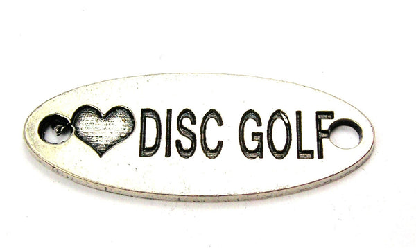 Love Disc Golf - 2 Hole Connector Genuine American Pewter Charm