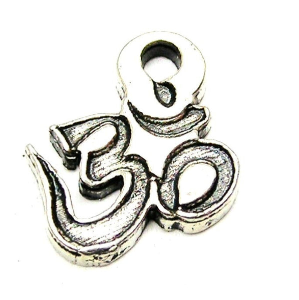 Namaste Engraved Mini Genuine American Pewter Charm