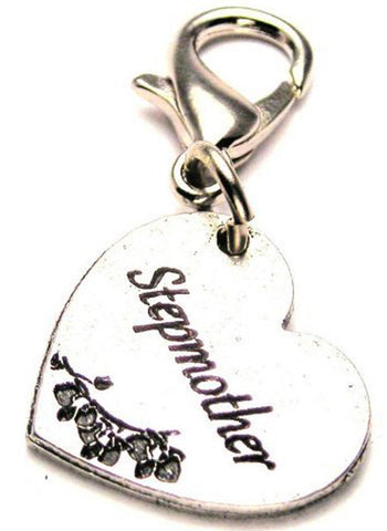 Stepmother Heart Genuine American Pewter Charm