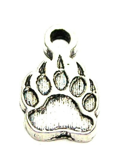 Engraved Paw With Claws Genuine American Pewter Charm