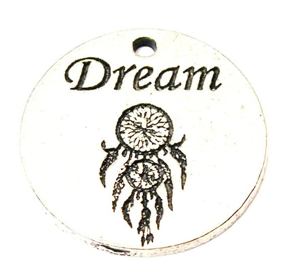 Dream With Dream Catcher Genuine American Pewter Charm
