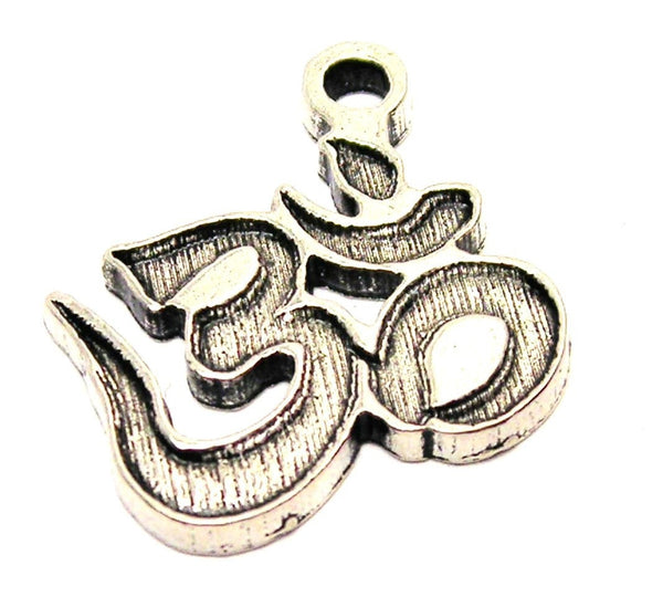 Namaste Engraved Genuine American Pewter Charm