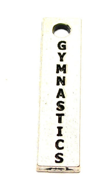 Gymnastics Long Tab Genuine American Pewter Charm