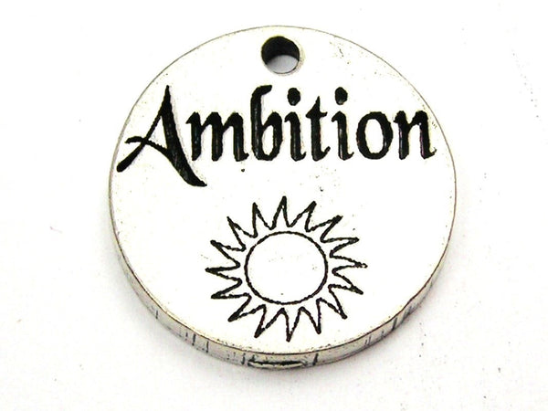 Ambition Genuine American Pewter Charm