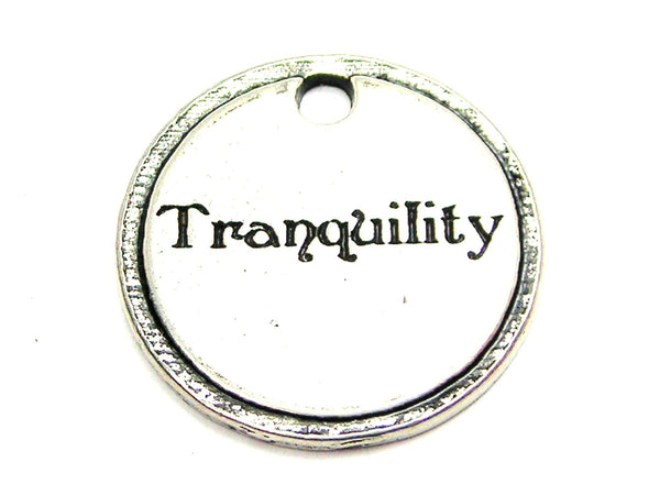 Tranquility Circle Genuine American Pewter Charm
