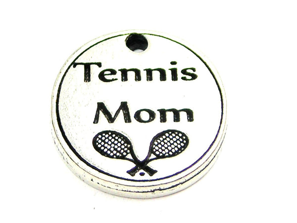 Tennis Mom Genuine American Pewter Charm