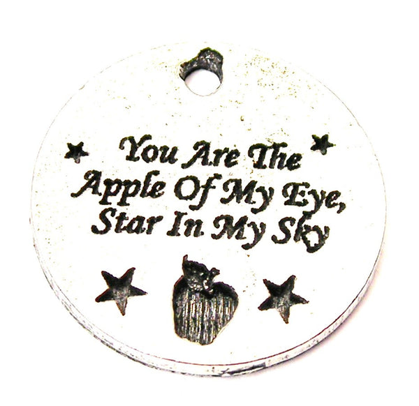 You Are The Apple Of My Eye, Star In My Sky Genuine American Pewter Charm