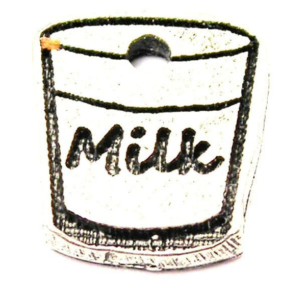 Glass Of Milk Genuine American Pewter Charm