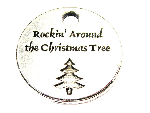 Rockin Around The Christmas Tree Genuine American Pewter Charm