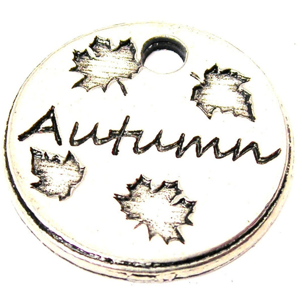 Autumn Circle Genuine American Pewter Charm