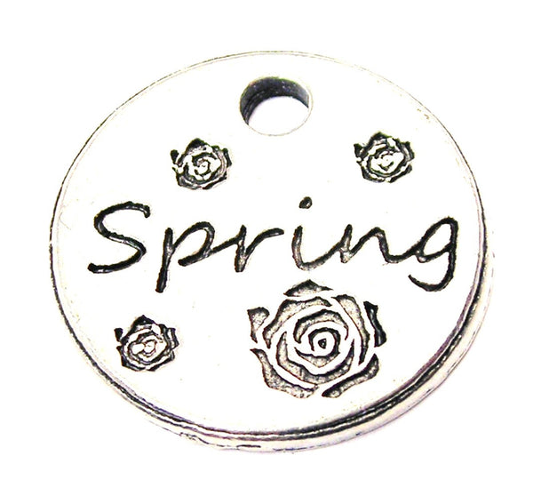 Spring Circle Genuine American Pewter Charm