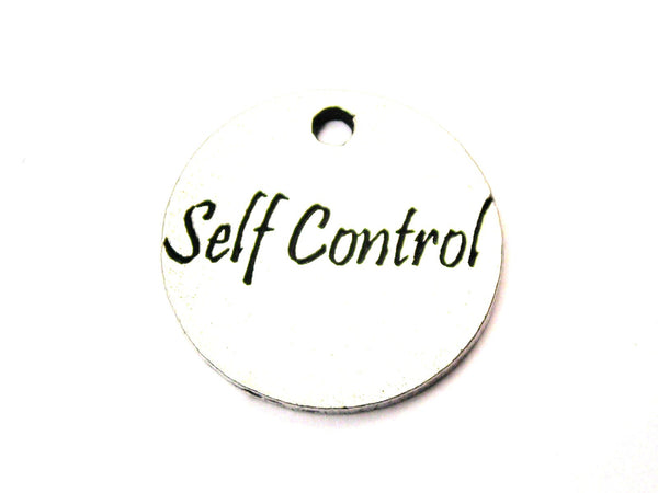 Self Control Circle Genuine American Pewter Charm