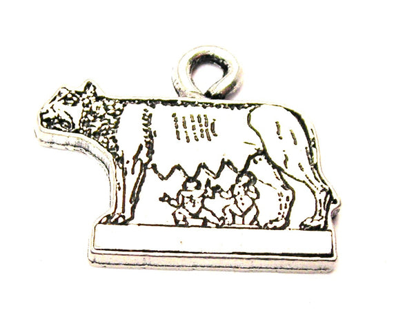 Remus And Romulus Genuine American Pewter Charm