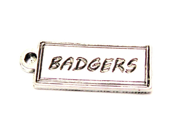 Badgers Tab Genuine American Pewter Charm