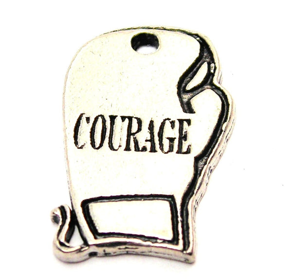 Courage Boxing Glove Genuine American Pewter Charm