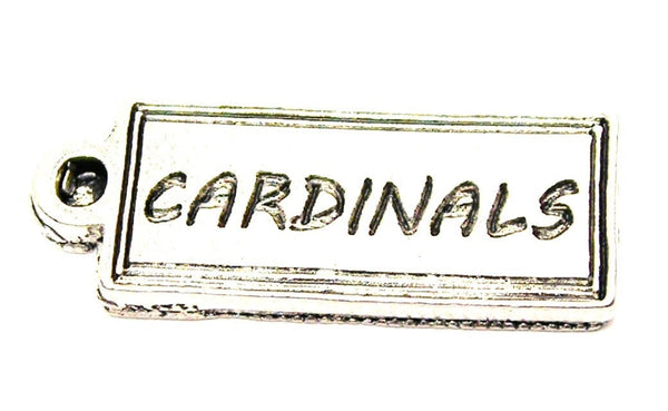 Cardinals Tab Genuine American Pewter Charm