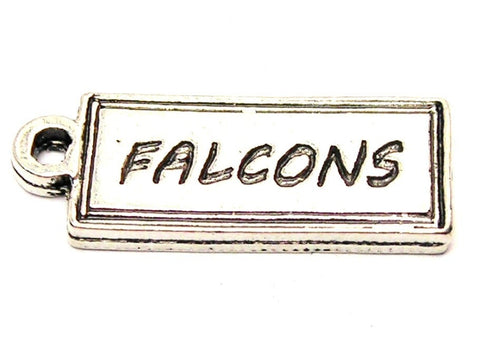 Falcons Tab Genuine American Pewter Charm